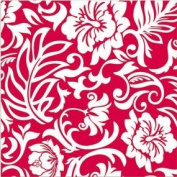 Red & White Hawaiian Pareo Design Gift Wrap Paper / 2 Rolls