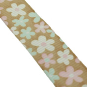 1.6cm Grosgrain Starburst Floral Ribbon Roll 10 Yard Roll