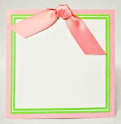 Pink Ribbon Gift Tags Package of 12, Size