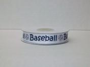Baseball Printed Satin Ribbon