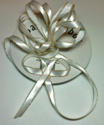 1cm White Satin Ribbon with Gold Edge 50 Yard Spool 100% Polyester Single Faced