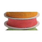 3.8cm Wide Pink Wired Burlap Ribbon on Spool 10 yds