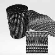 Black Diamond Rhinestone Ribbon Wrap - 10 Yard/30 Feet - Decoration Party Ideas