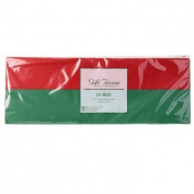 24 Red & Green Christmas Tissue Paper