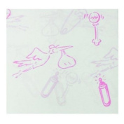 Pink Baby Characters tissue paper