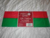 Merry Brite Gift Tissue, 20 Sheets