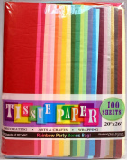Assorted Rainbow Colour Tissue Paper Bonus Pack, 50cm x 70cm , Pack Of 100 Sheets!