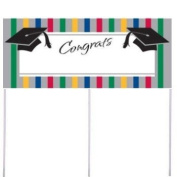 Graduation Stripes Yard Banner w/Stakes