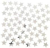 Silver Star Shaped Confetti