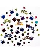 Dots And Stripes Happy Birthday Confetti
