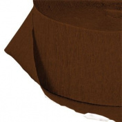 4 ROLLS, CHOCOLATE BROWN Crepe Paper Streamers 290 ft Total - Made in USA!