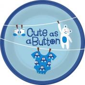 Cute As a Button- Boy Dessert Plate