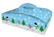 Creative Converting Cake-N-Take Portable Dessert Carrier, Snowman