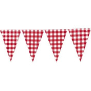 Large Red Gingham Pennant Banner - Party Decorations & Banners