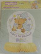 Baby's 1st Birthday Honeycomb Centrepiece 33cm