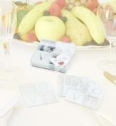 Set of 4 Glass L O V E Coasters