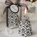 Darling Damask Design Cake Candles