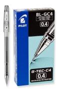 Pilot G-Tec-C Black Ultra Fine 0.4mm - 12 Pack Gel Pen - PGTC4-BLK