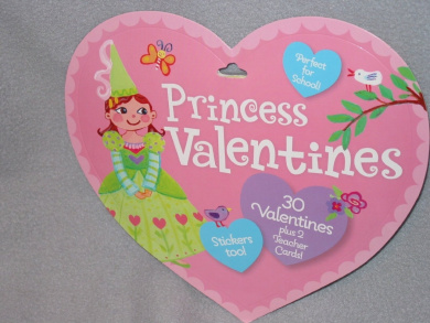 Princess Valentines Cards 30 Student Cards and 2 Teacher Cards