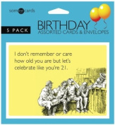 Someecards Assorted Birthday Greeting Cards - Pack of 5