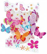 Santoro Interactive 3-D Swing Card, Butterflies Greeting Card