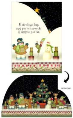 Boxed Christmas Cards - Trifold - OH CHRISTMAS TREE - 14 Pack