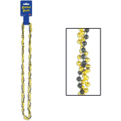 Braided Beads (black & gold) Party Accessory (1 count)