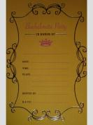 Hot Pink & Yellow Bachelorette Party Invitations w/ Envelopes