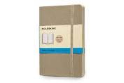 Moleskine Classic Coloured Notebook, Pocket, Dotted, Khaki Beige, Soft Cover