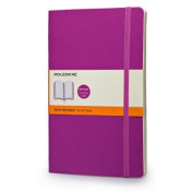 Moleskine Classic Coloured Notebook, Large, Ruled, Orchid Purple, Soft Cover