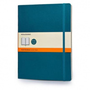 Moleskine Classic Coloured Notebook, Extra Large, Ruled, Underwater Blue, Soft Cover