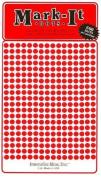 Map Dot Stickers - Red - 0.3cm Diameter
