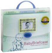 Baby Briefcase Baby Paperwork Organiser, Mint/Periwinkle
