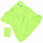 Baby Boum Pucci Hooded Bath Towel and Wash Mitt - Lime Green