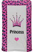 Baby Changing Mat Padded Luxurious Comfortable Leopard Printed With Princess Text And Crown