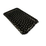 White Polka Dots Changing Mat in Black