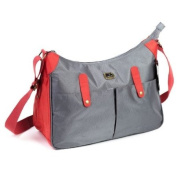 Caboodle Everyday Baby Changing Bag - Grey with Red Detail