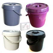 Ur Choice 14 Litre Nappy Bucket with Lid - Cream + 200 Nappy Bags Free by Whitefurze