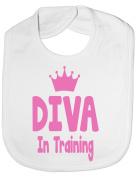Diva In Training - Funny Baby/Toddler/Newborn Bib - Baby Gift