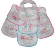 7 Pack Baby Bibs Fairy Tales in pink