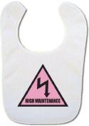 'High Maintenance' Baby bib