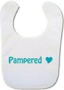 'Pampered' Baby bib