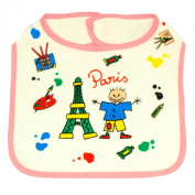 Souvenirs of France - Paris Bib - Colour : White and Pink
