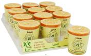 Candle Votive Love Orange 60ml (12 Per Box) by Aloha Bay