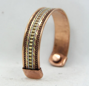 Powerful Twist Magnetic Copper Cuff Bracelet for Arthritis and Golf Sport Aches and Pains