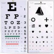 EMI Kindergarten and Snellen Wall Eye Charts 60cm By 28cm Combo Pack