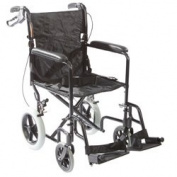 Roscoe Medical KT1912B Transport Chair with 30cm Rear Wheels, Black