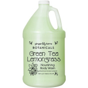 For Pro Ginger Lily Farms Botanicals Body Wash Gallon, Green Tea and Lemongrass, 128 Fluid Ounce