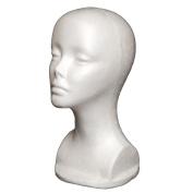 A1Pacific 33cm STYROFOAM FOAM MANNEQUIN head wig display hat glasses