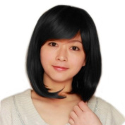 Fashionable Sexy Black Short Straight Lady Wig Party/daily Wigs